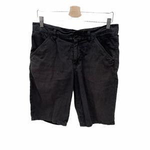 life after denim Faded Black Linen Blend Short 32